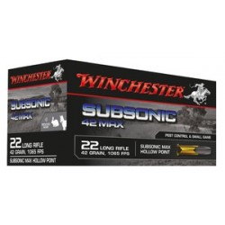 Munitions 22lr Winchester Subsonique x500