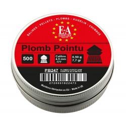 Boite de 500 plombs 4,5 mm Europarm pointus