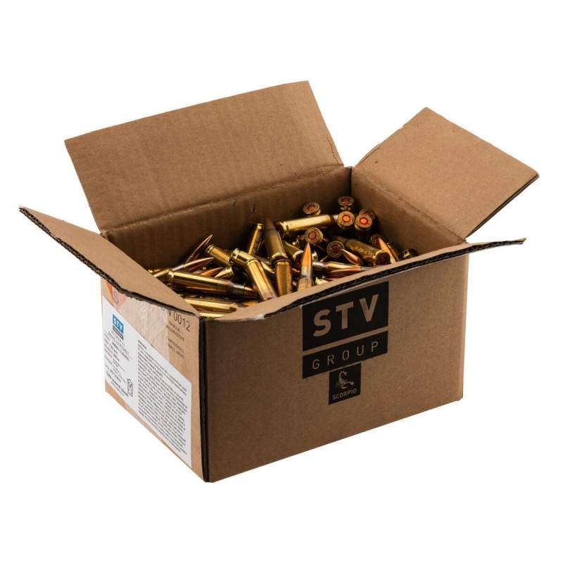 Munitions STV SCORPIO 7. 62 x 51 FMJ 146 grs - 308 Win carton de 200
