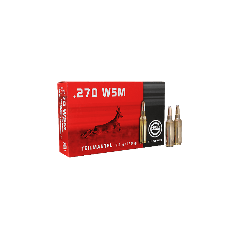 Munitions Geco boite de 20 calibre 270WSM T Mantel