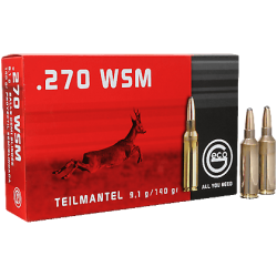 Munitions Geco boite de 20 calibre 270WSM Soft point