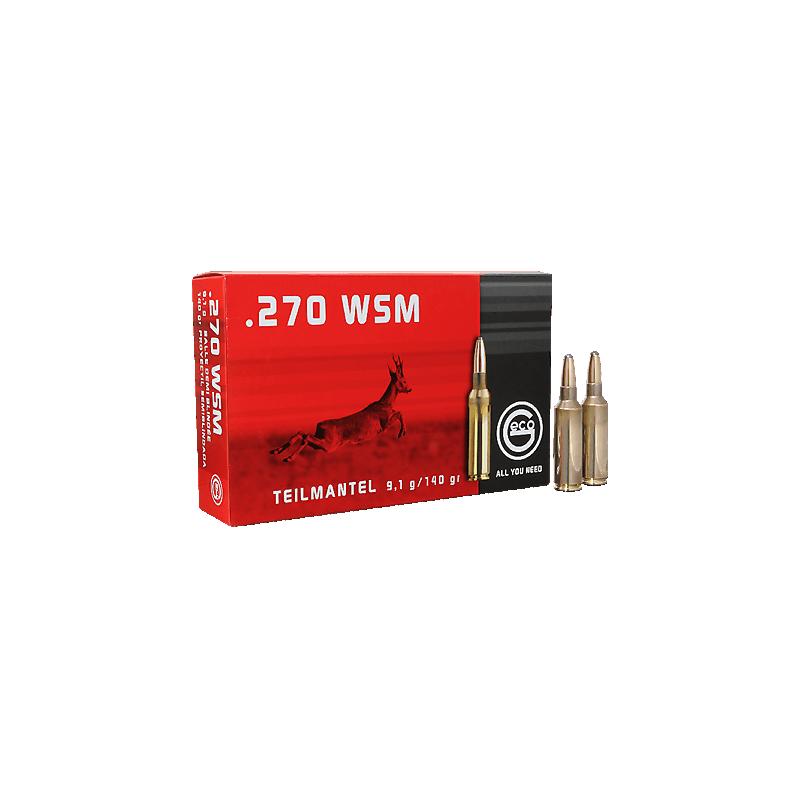 Munitions Geco boite de 20 calibre 270WSM Soft point