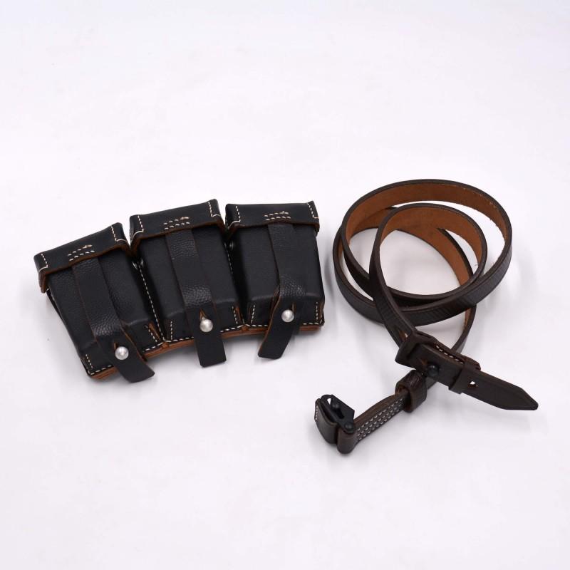 Pack Mauser 98k repro cartouchiere et sangle