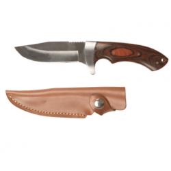 Couteau chasse poignée bois