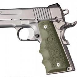 Plaquettes Hogue Colt 1911 ergonomique vert OD