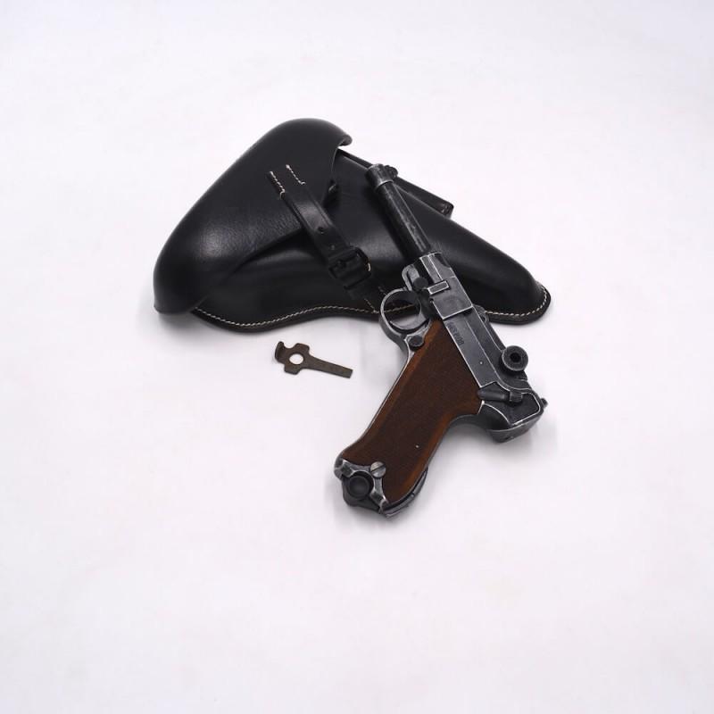 Pack Luger P08 vieilli 9mm PAK - Etui noir et outil