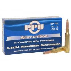 6,5X54 MANLNICHER 156gr SP RN PPU x1000