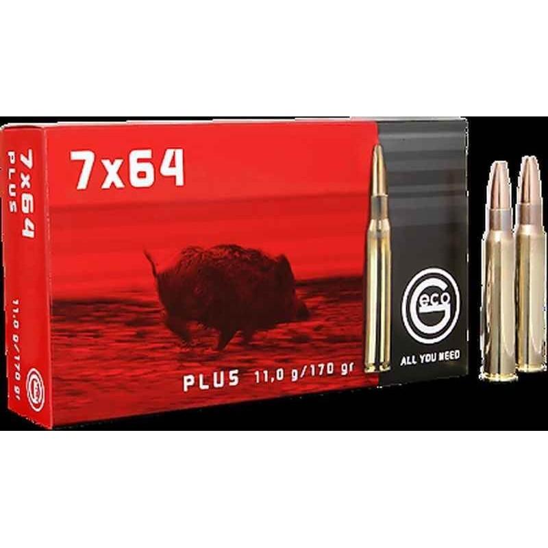 Munitions Geco boite de 20 calibre 7x64 Plus Bullet