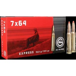 Munitions Geco boite de 20 calibre 7x64 Express Bullet