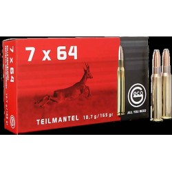 Munitions Geco boite de 20 calibre 7x64 Soft point