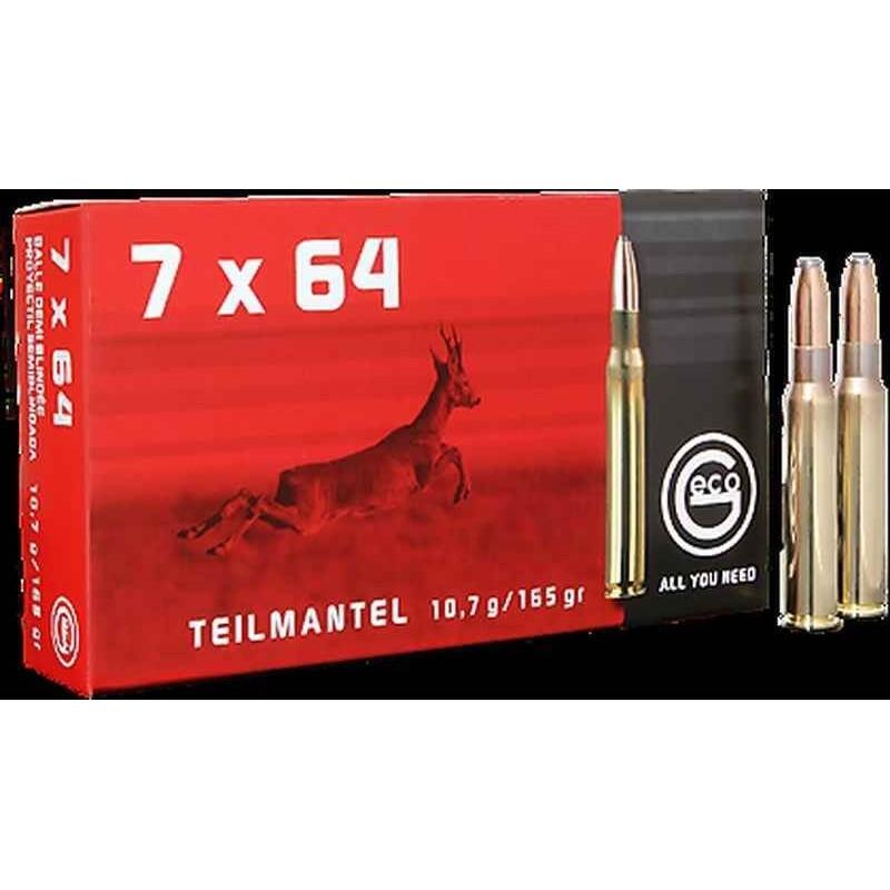 Munitions Geco boite de 20 calibre 7x64 Soft point