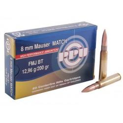 8x57 JS 200gr FMJ BT MATCH PPU x1000