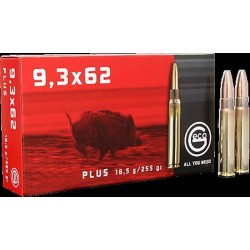 Munitions Geco boite de 20 calibre 9,3x62 Plus Bullet