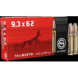 Munitions Geco boite de 20 calibre 9,3x62 Soft point