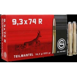 Munitions Geco boite de 20 calibre 9,3x74R Soft point
