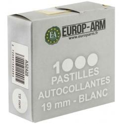 Pastilles autocollantes blanches 19mm