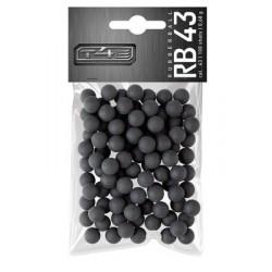 T4E RB 43 Balle caoutchouc dure Cal. 0.43 (x100)