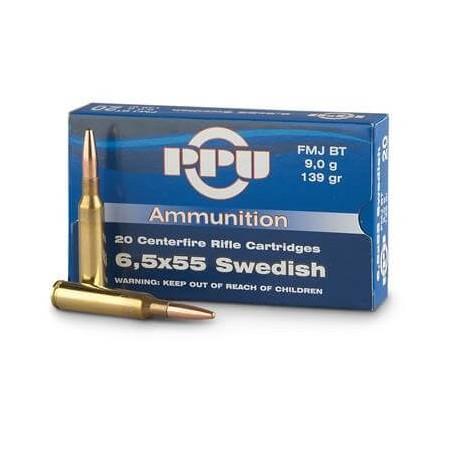 6,5x55 Suédois PPU 139gr FMJ BT