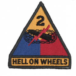 Insigne tissu 2nd army Hells on Wheels