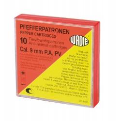 Boîte de 10 cartouches 9 mm PA à poivre Wadie