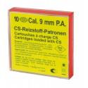 Boîte de 10 cartouches 9 mm PA à gaz CS Wadie