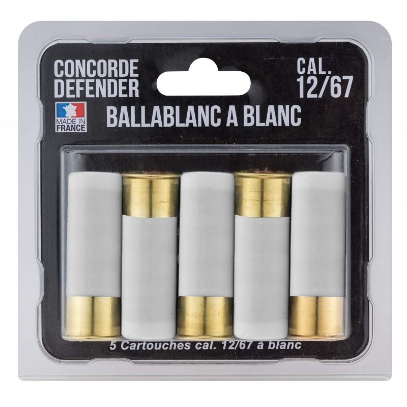 5 cartouches Ballablanc cal. 12/67 à blanc