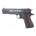 Pistolet Classic M1911 Milbro Culasse metal Noir 4.5 mm(.177) CO2 Fixe 3.5J