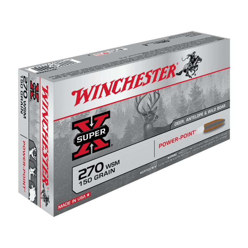 270 WSM 150gr Power Point Winchester x20