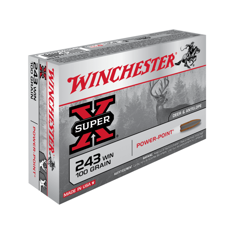 243 Win 100gr Power Point Winchester x20