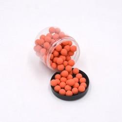 Boite de 100 billes caoutchouc orange cal.50