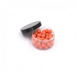 Boite de 50 billes caoutchouc orange cal.50