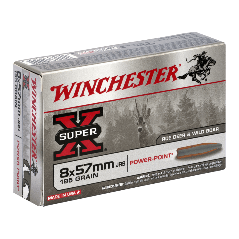 8x57 JRS 195gr Power Point Winchester x20