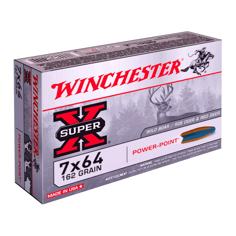 7x64 162gr Power Point Winchester x20