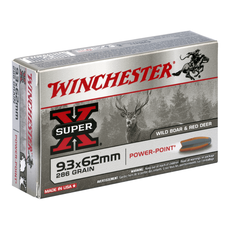 9.3x62 286gr Power Point Winchester x20