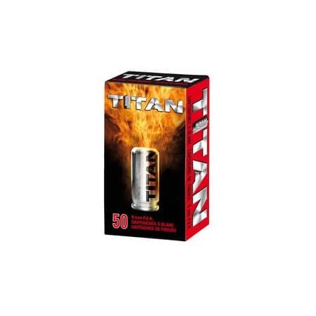 Munitions 9mm PAK TITAN x50