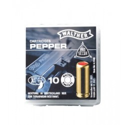 Munitions 9mm Walther poivre x10
