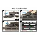 Bipied M-LOK Recon Flex 5.7-8 pouces