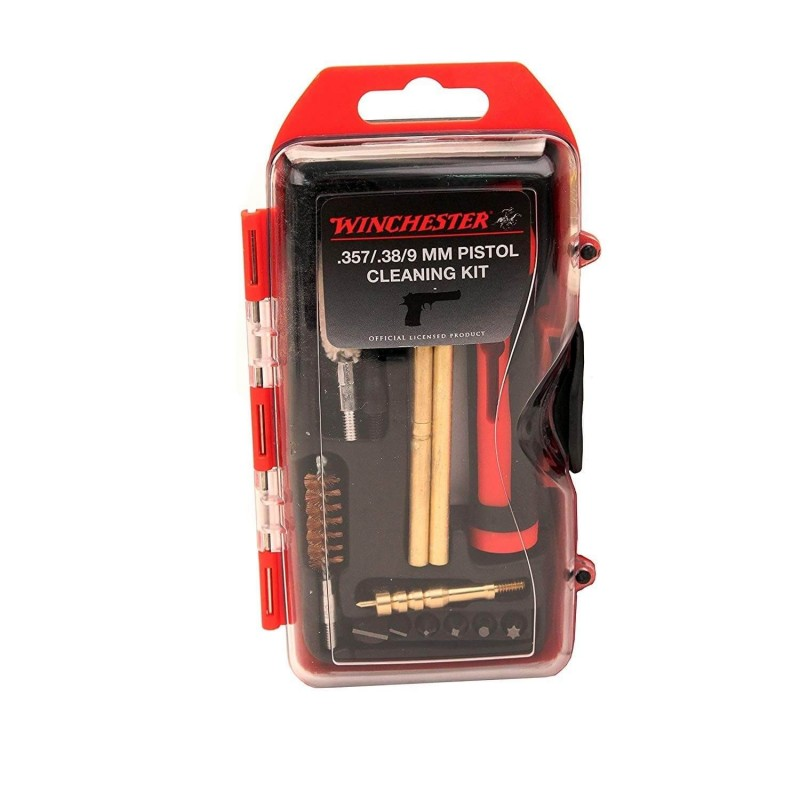 Winchester Kit de Nettoyage pour 9mm/.357/.38 14-Pieces