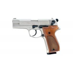 Pistolet Walther P88 Cal 9 mm Pak - Nickel/Wood