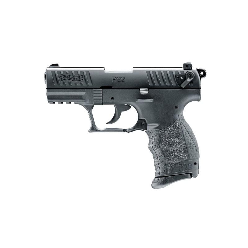 Pistolet Walther P22Q Cal 9 mm Pak - Noir