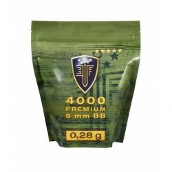 6mm Elite Force Blanche 0.28G Sachet X4000