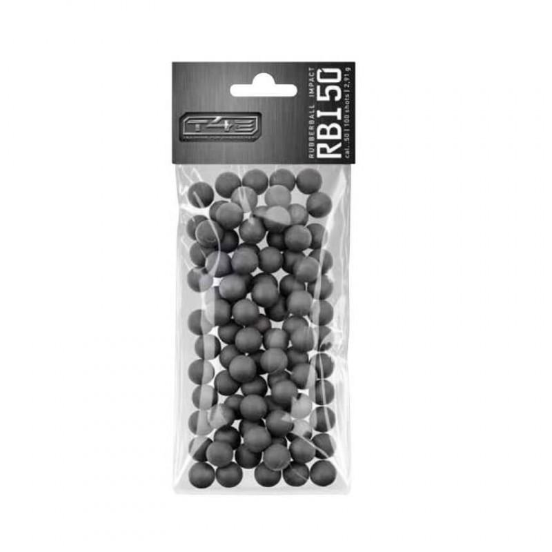 Billes caoutchouc noyau acier Cal 50 x100 - RBI T4E
