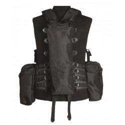 Gilet Tactical Noir (12 Poches)