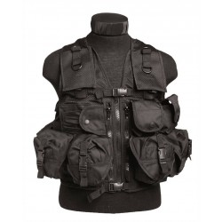 Gilet Tactical Noir (9 Poches)