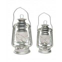 Lampe Tempête Pétrole Zinc 23 Cm