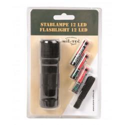 Lampe Torche 12 Led (3Aaa) Noire
