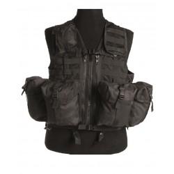 Gilet Tactical Syst.Mod.Noir (8 Poches)