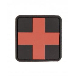 Patch 3D First Aid Pvc Avec Scratch Grand Noir