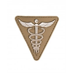 Patch 3D Medical Pvc Avec Scratch Dark Coyote